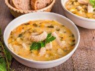 Рецепта Сръбска шкембе чорба с говеждо, сирене и чушки